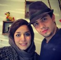 عکس امیر کاظمی و همسرش مهتاب محسنی