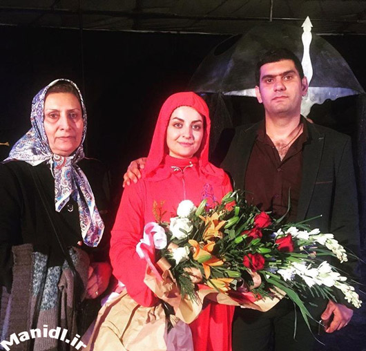 عکس لیلا ایرانی در کنار همسر و مادر شوهرش
