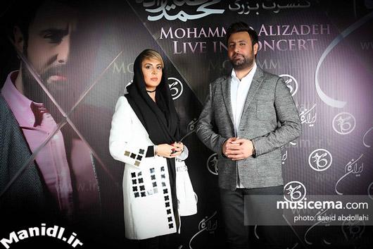 عکس لیلا بلوکات در کنسرت محمد علیزاده