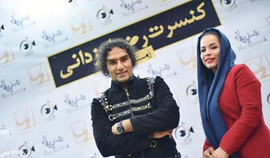 عکس ملیکا شریفی نیا در کنسرت رضا یزدانی
