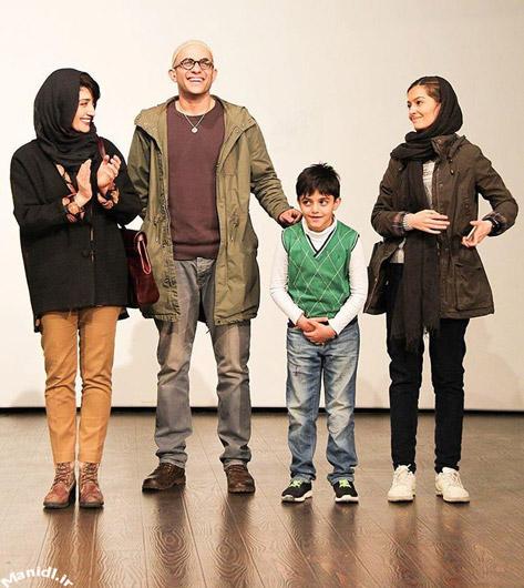 پردیس احمدیه در کنار مینا ساداتی و همسرش بابک حمیدیان