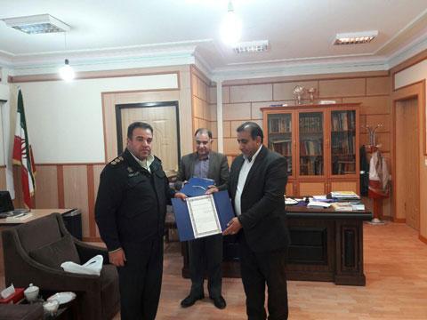 تجلیل مدیرعامل مخابرات فارس از نیروی انتظامی ممسنی