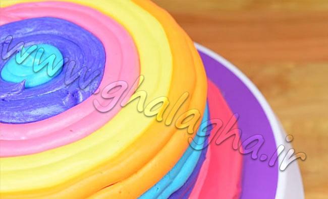 کیک رنگین کمانی
