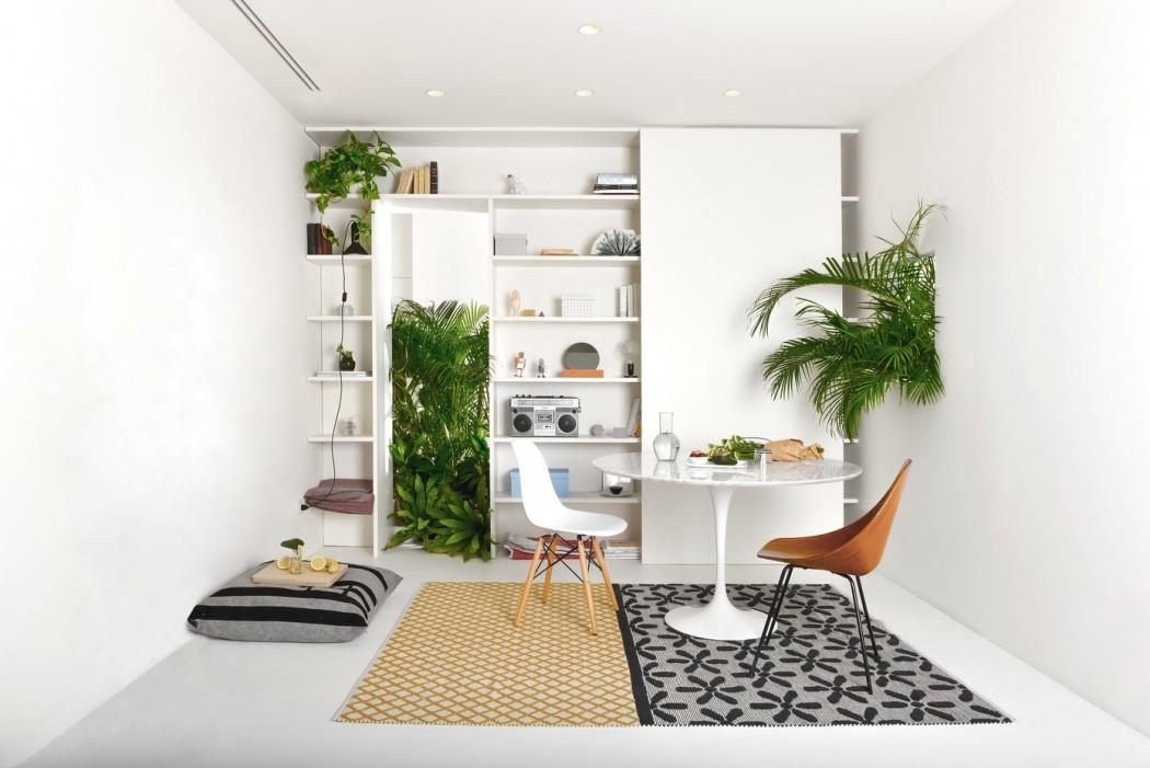 طراحی خانه ای پر از گل و گیاه2