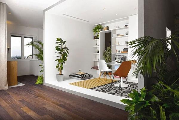 طراحی خانه ای پر از گل و گیاه آپارتمانی