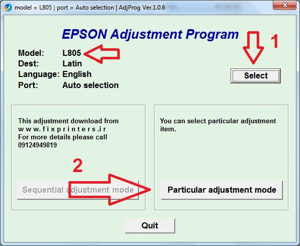 Epson Stylus Pro 9800 Service Program Adjustment Wizard