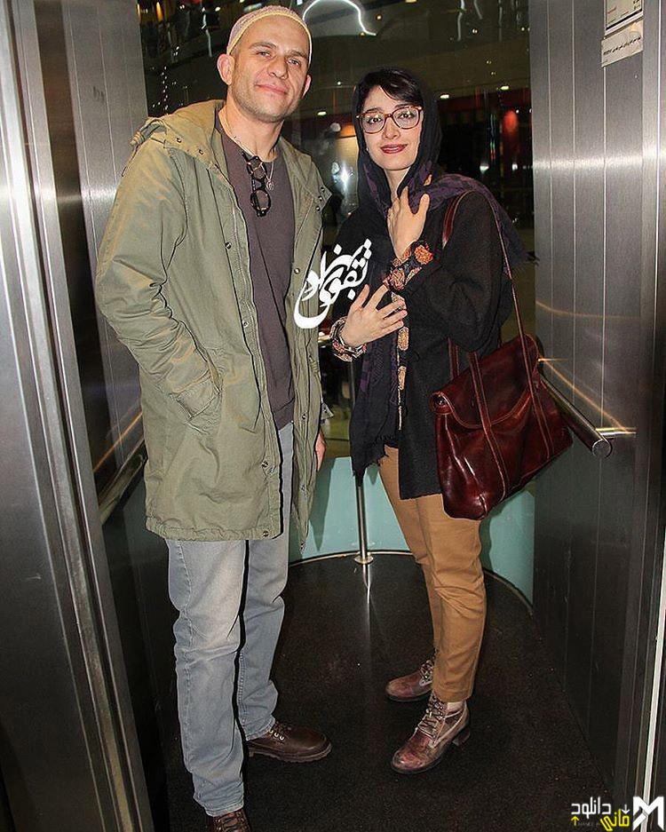 عکس مینا ساداتی و همسرش بابک حمیدیان