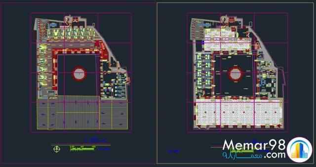 نقشه های اتوکدی مسجد جامع آمل