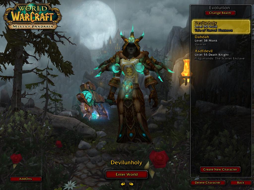 فروش هیرو Druid - Devilunholy - سرور WowZone
