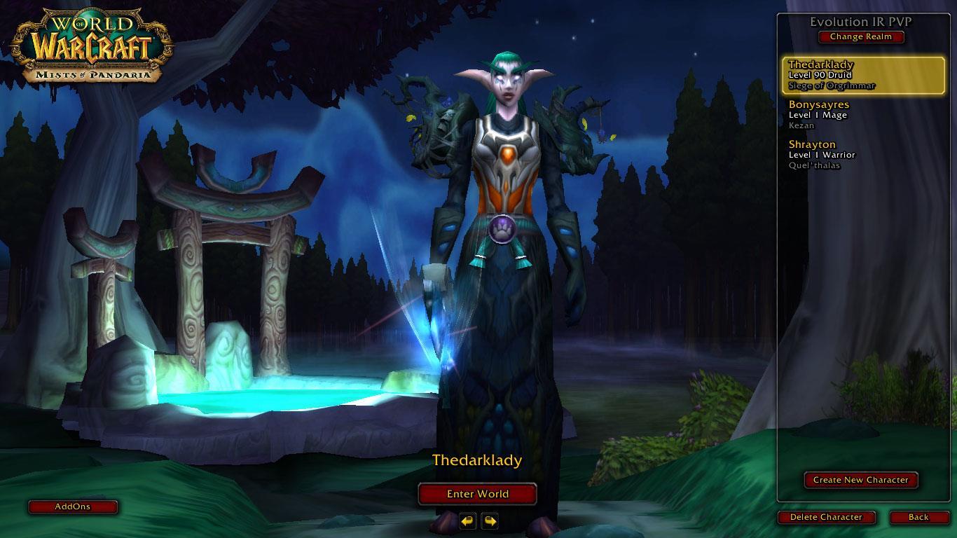 فروش هیرو Druid - Thedarklady - سرور WowZone