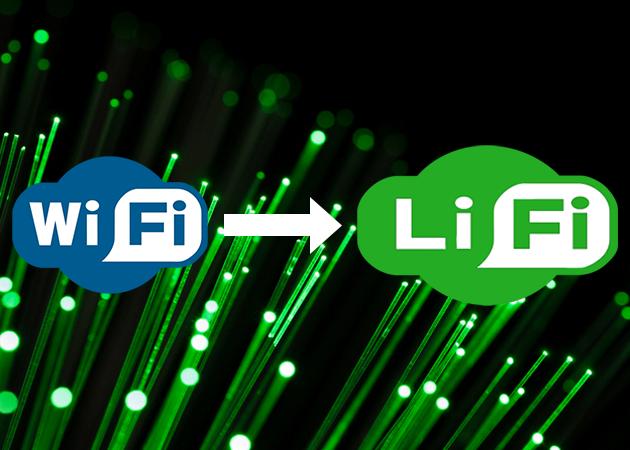 اینفوگرافی مقایسه WiFi و LiFi