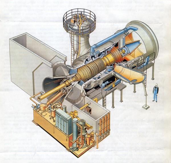 دانلود پروژه معرفی و بررسی بخشهای مختلف نیروگاه گازی