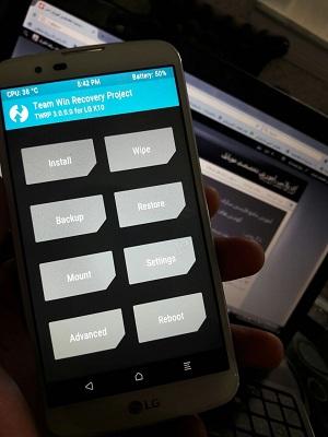 آموزش روت گوشی LG K10 و LG K8 با اندروید 6.0