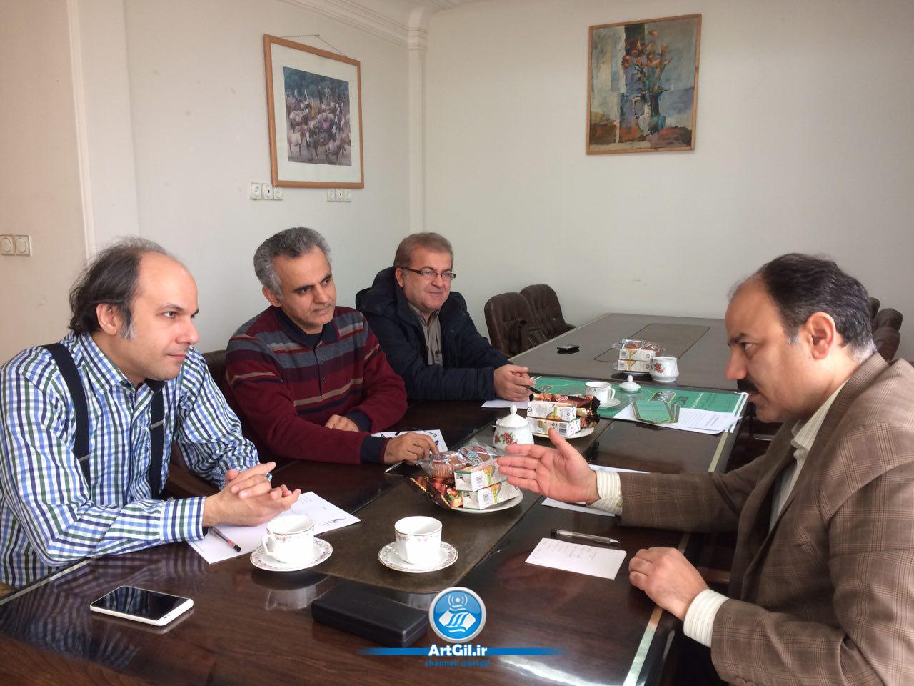 دیدار مدیر عامل انجمن موسیقی ایران از گیلان
