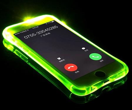 محافظ ژله ای نورانی آیفون iPhone light Up Case