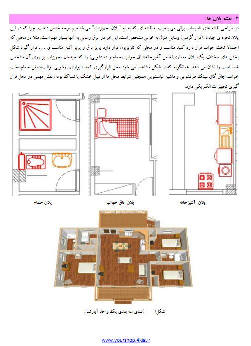 دانلود جزوه نقشه کشی برق ساختمان