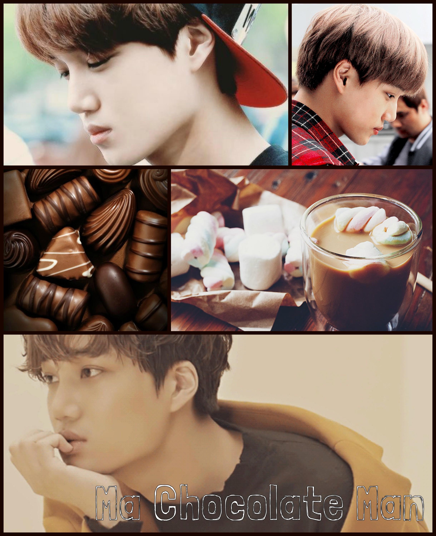kai - mood board - exo - brown - exol-اکسو - کای -مود بورد - ma chocolate man