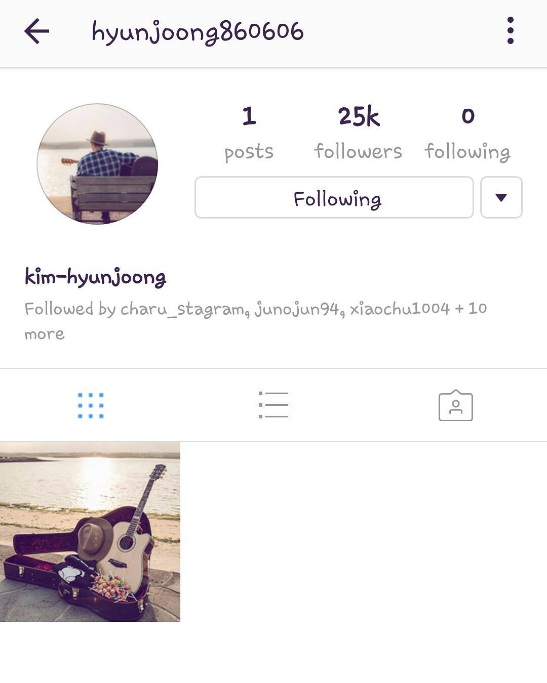 Kim Hyun Joong Official Instagram Account is Open