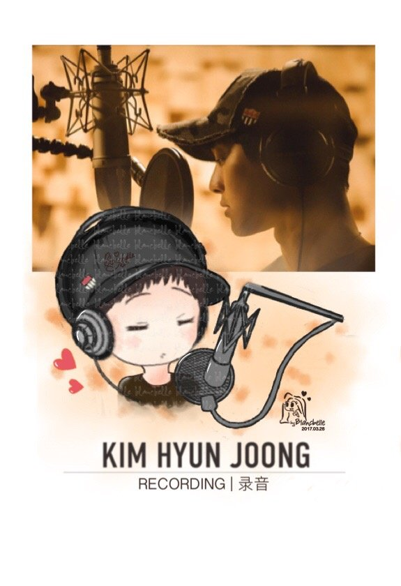 [blancbelle fanart] Kim Hyun Joong - Recording [2017.03.28]