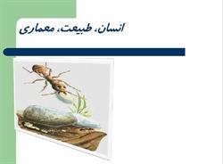 دانلود پاورپوینت انسان طبیعت معماری مورچه ( تفاوت مورچه و انسان )