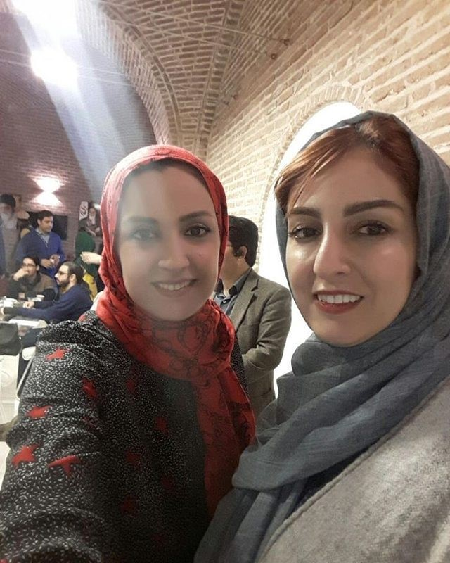 عکس کمیاب شقایق دهقان و با آزاده آل ایوب