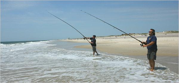 چوب و چرخ مورد نیاز صید کپور از ساحل دریا