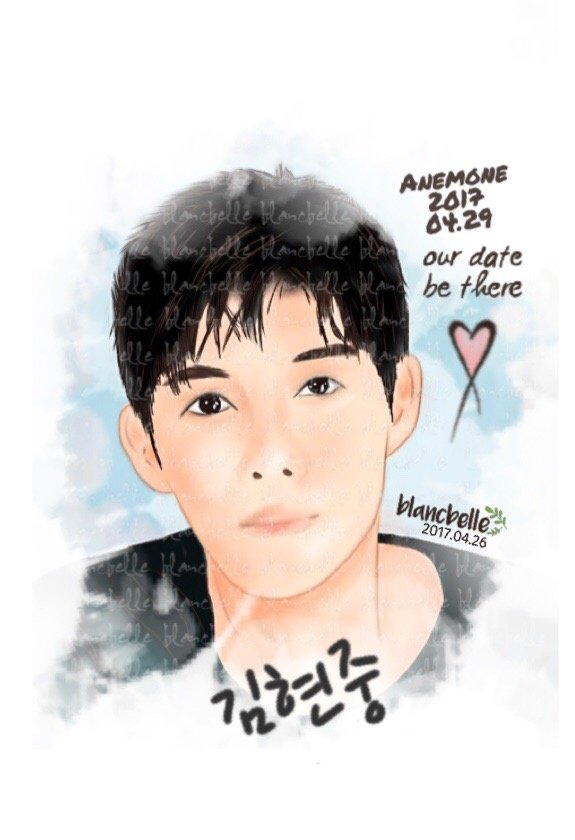 [blancbelle fanart] Kim Hyun Joong - Anemone 2017.04.29 our date be there [2017.04.26]
