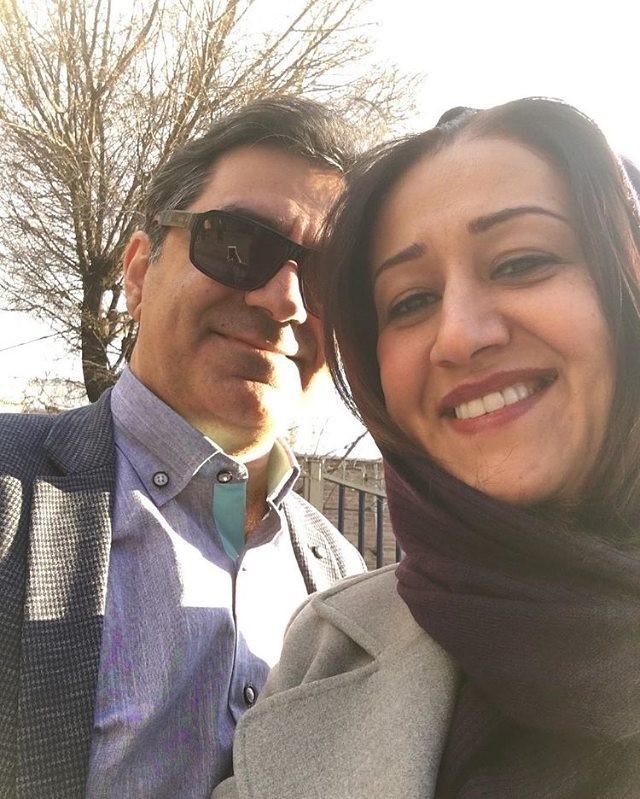 فاطمه هاشمی همراه همسرش
