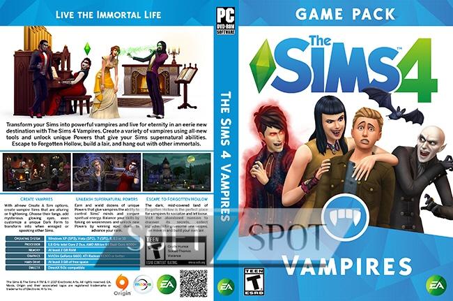 کاور بازی The Sims 4 Vampires