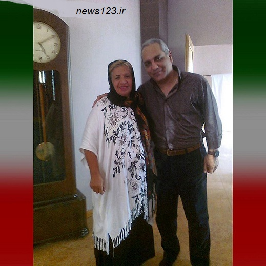 عکس جنجالی و لو رفته مهران مدیری و گیتی معینی