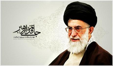 اقامه نماز توسط رهبر معظم انقلاب بر پیکر آیت الله واعظ طبسی