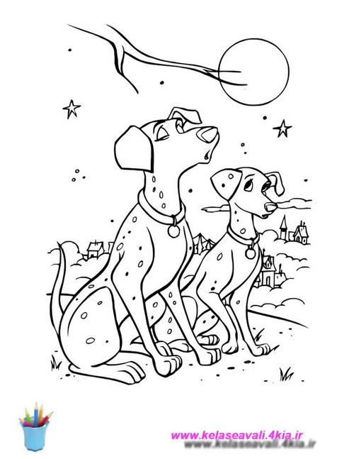 کتاب نقاشی 101 سگ خالدار