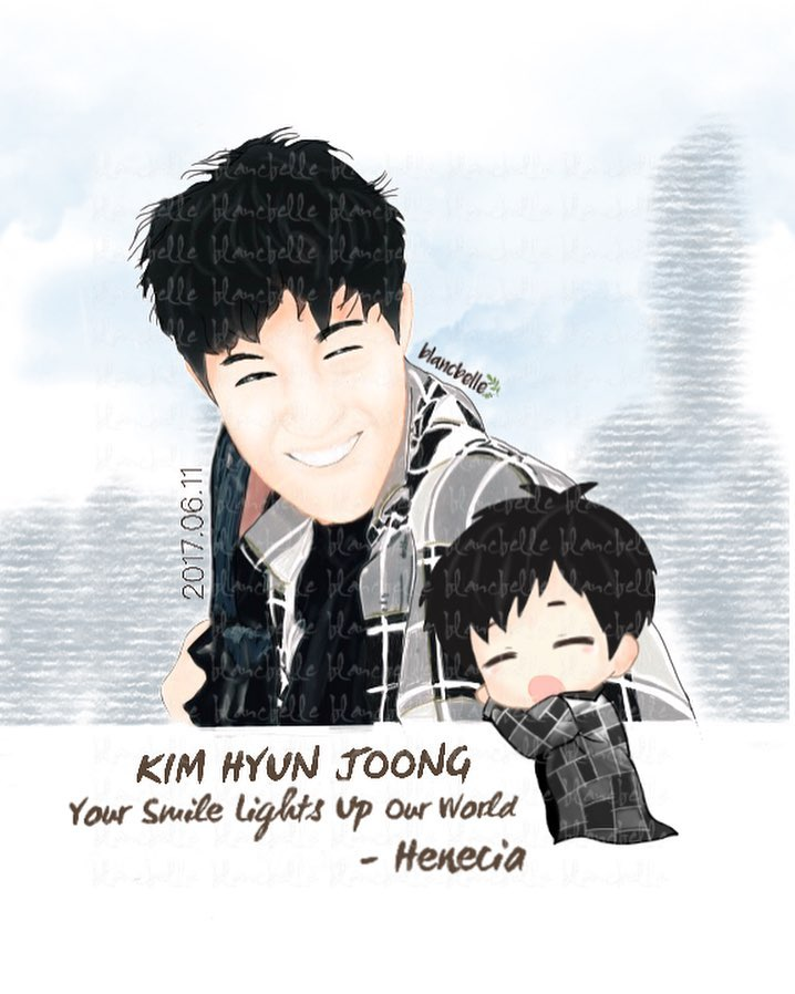 [blancbelle Fanart] Kim Hyun Joong Your Smile Lights Up Our World [2017.06.11]
