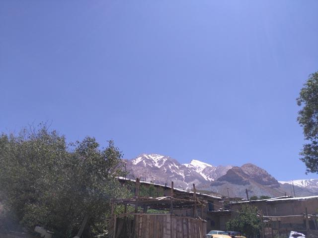 منظره قله قاشمستان از اقامتگاه کیخسرو