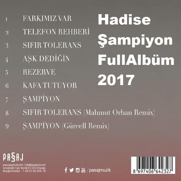 Hadise - Şampiyon (2017) Full Albüm