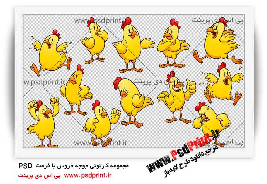 تصاویر کارتونی+جوجه خروس+psd+png