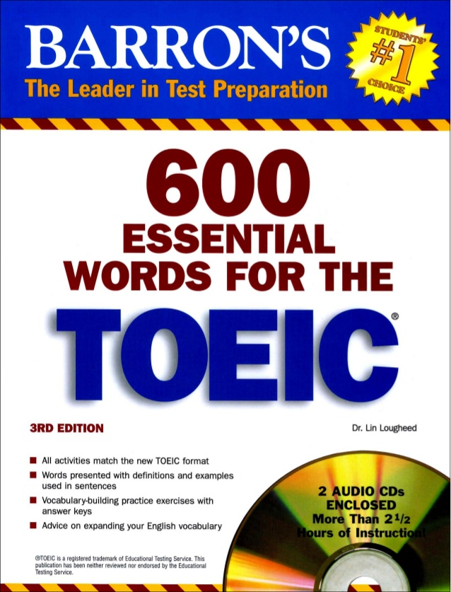 600 Essential Words for The TOEIC کتاب ویرایش سوم