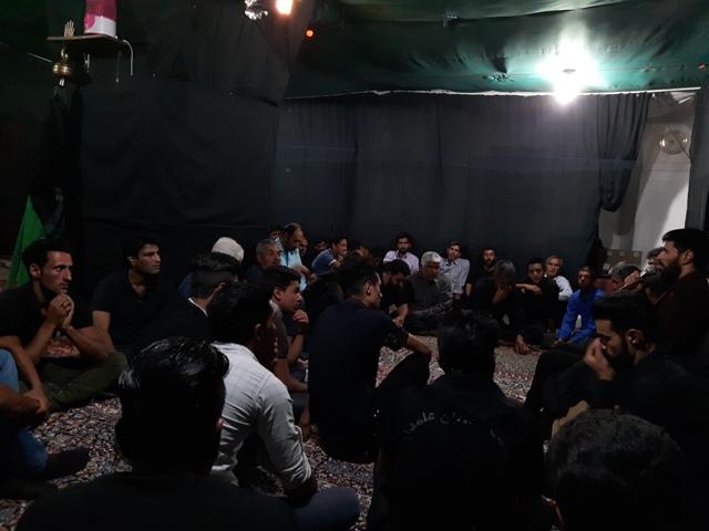برپایی خیمه عزای صادق آل محمد(ص) درمجمع عاشقان علی اکبر علیه السلام