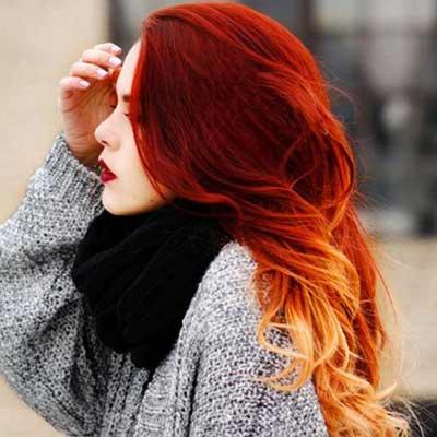 رنگ موي آتشي زنانه