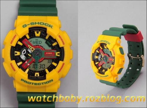 فروش ساعت مچی رنگی زیبا پسرانه مدل جی شاک