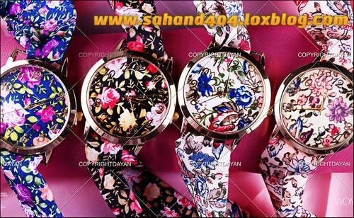 فروش حراجی ساعت می دخترانه بند پارچه ای شیک مدل جدید 1396