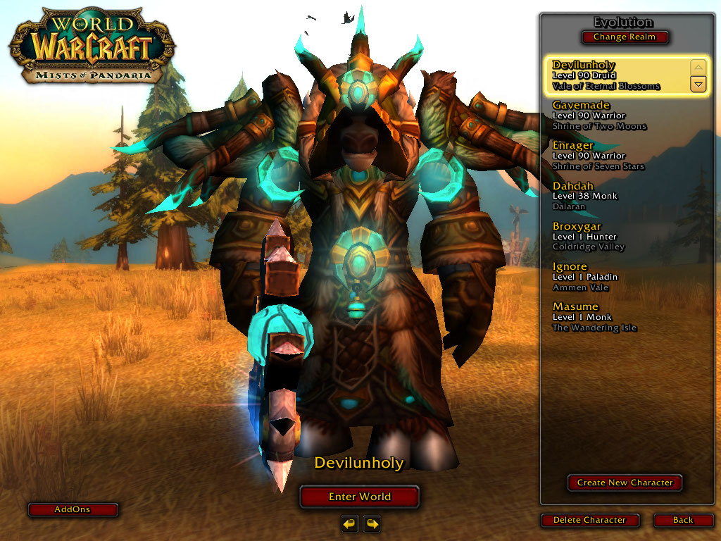 فروش اکانت - کاربر alidevil - کلاس Druid + warrior - سرور Wowzone