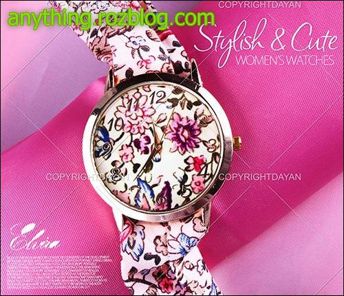حراج ساعت مچی دخترانه بند پارچه ای با رنگ شاد 1396