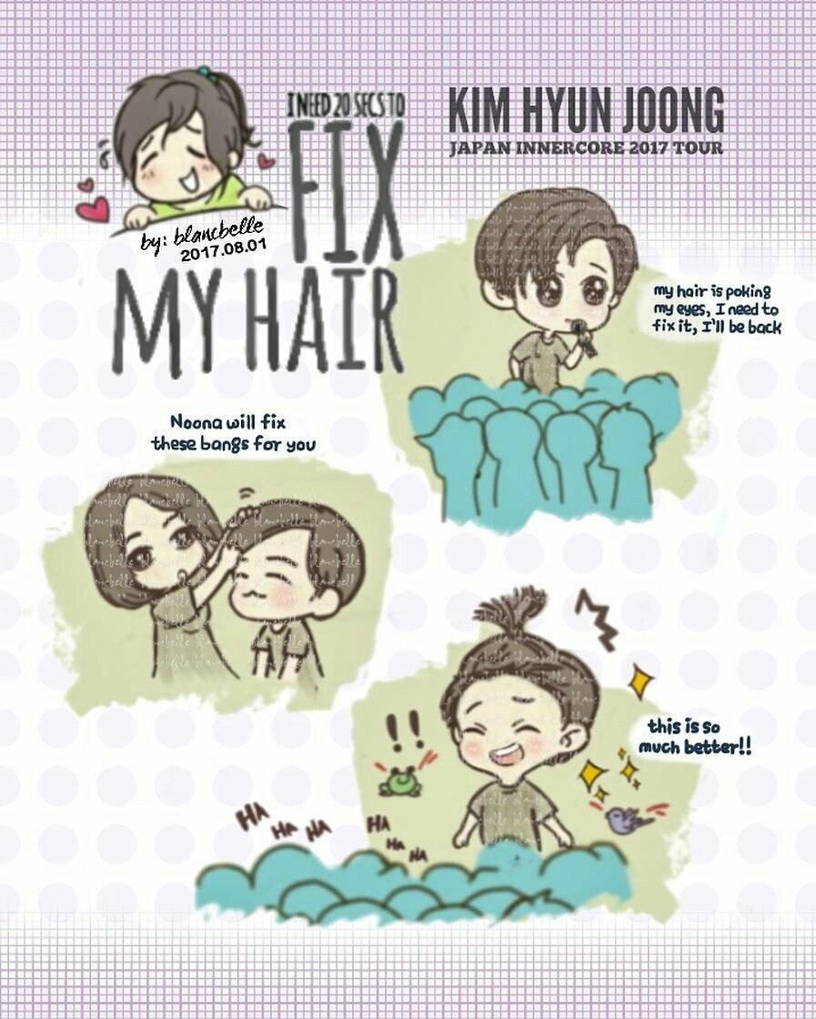 [blancbelle Fanart] Kim Hyun Joong Ineed 20 Secs to fix my hair [2017.08.01]