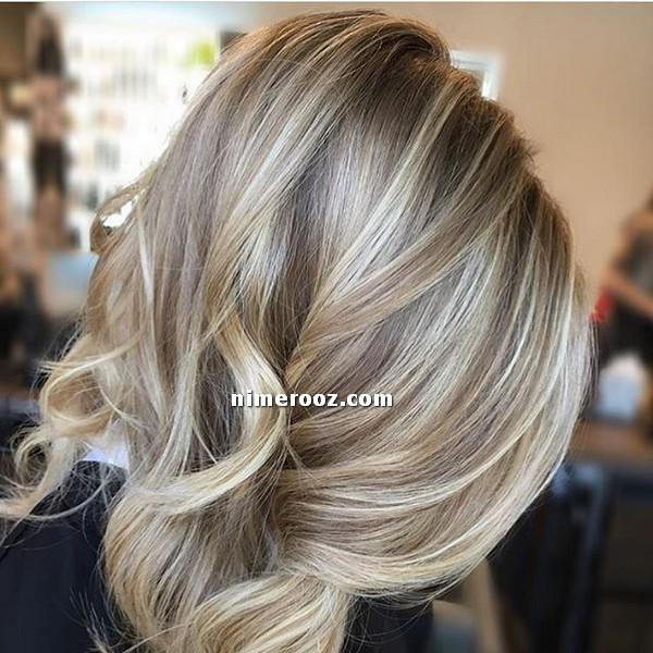 ترکیب رنگ مو بلوند ماسه ای-عکس رنگ مو ماسه ای با فرمول
