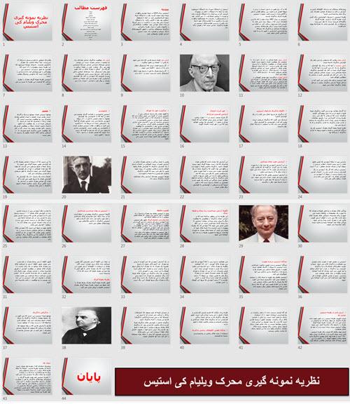 پاورپوینت نظریه نمونه گیری محرک ویلیام کی استیس