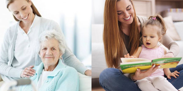 نگهداري از سالمند و كودك در منزل