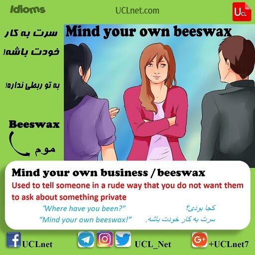 سرت به کار خودت باشه – Mind your own business / beeswax – اصطلاحات زبان انگلیسی – English Idioms