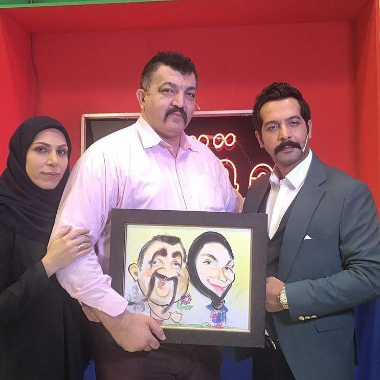 عکس احمد ایراندوست با همسرش و کامران تفتی
