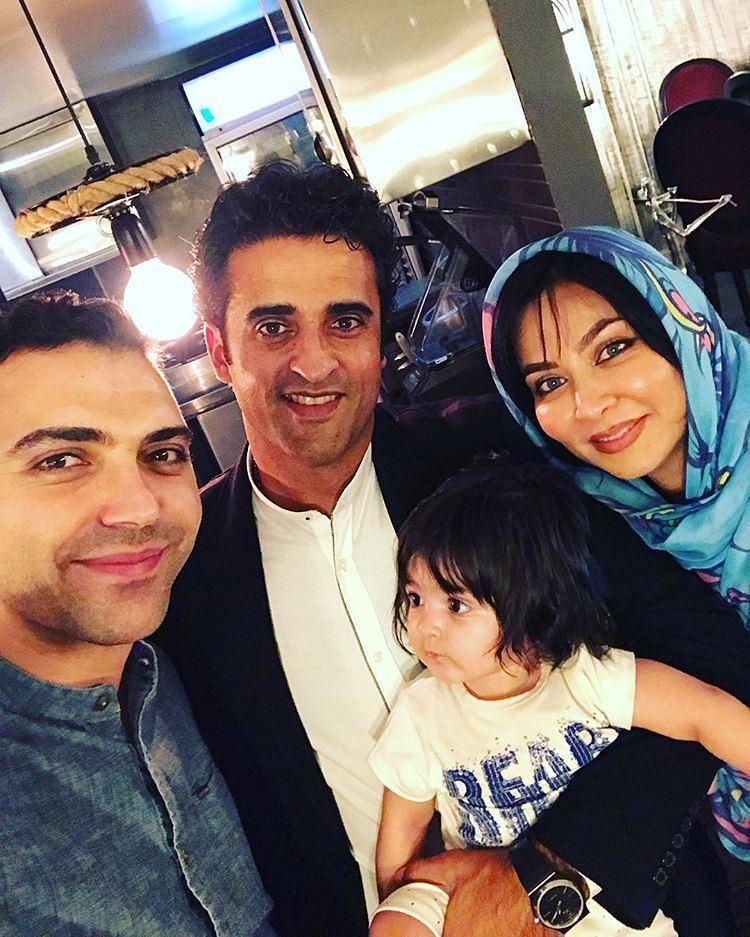 عکس جدید فقیهه سلطانی با همسر و دخترش
